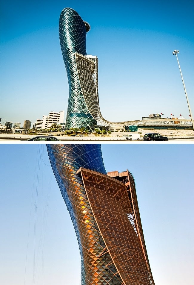 Capital-Gate-à-Abu-Dhabi-Émirats-arabes-unis