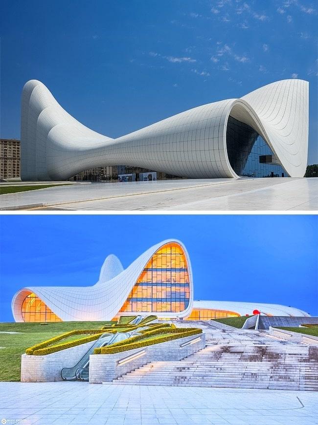Centre-Heydar-Aliyev-Bakou-Azerbaïdjan