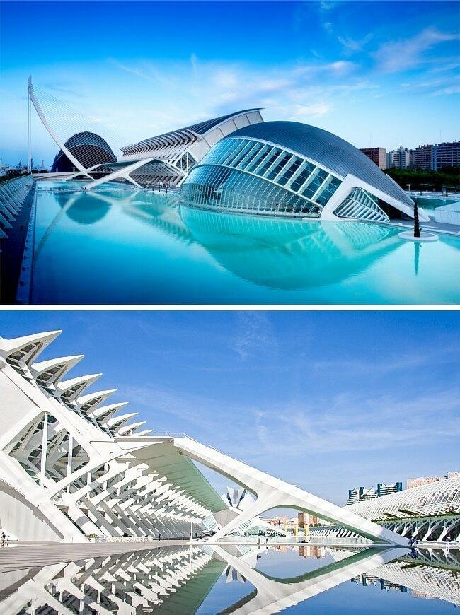 batiment-architecture-Cité-des-Arts-et-des-Sciences-de-Valence-Espagne