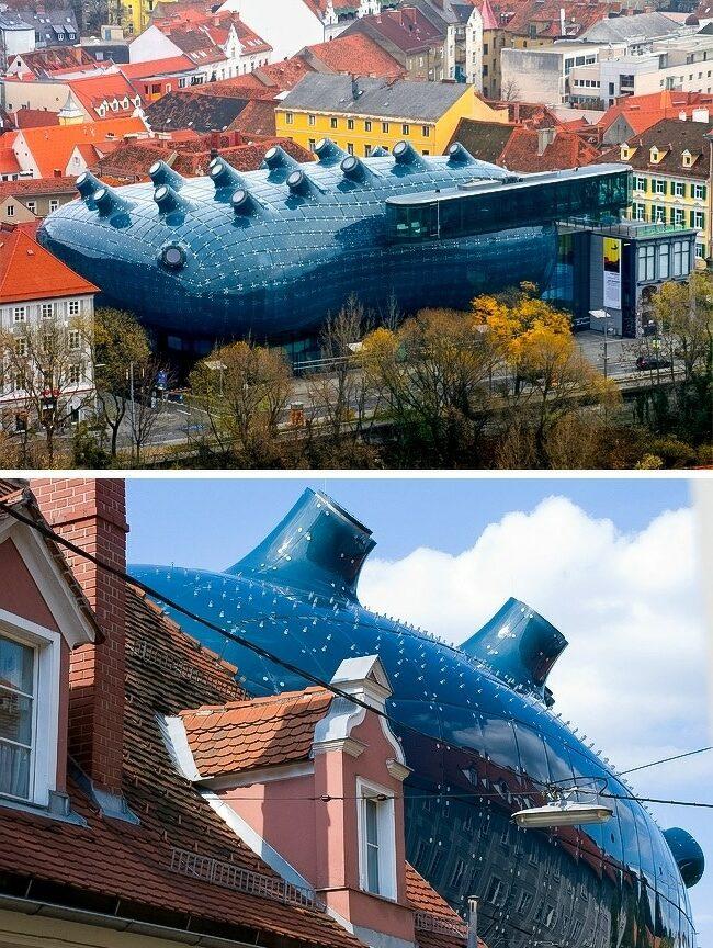 batiment-architecture-Le-Kunsthaus-Graz-à-Graz-Autriche