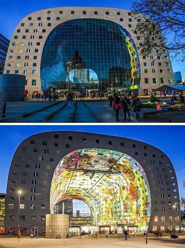 batiment-architecture-Markthal-à-Rotterdam-Pays-Bas