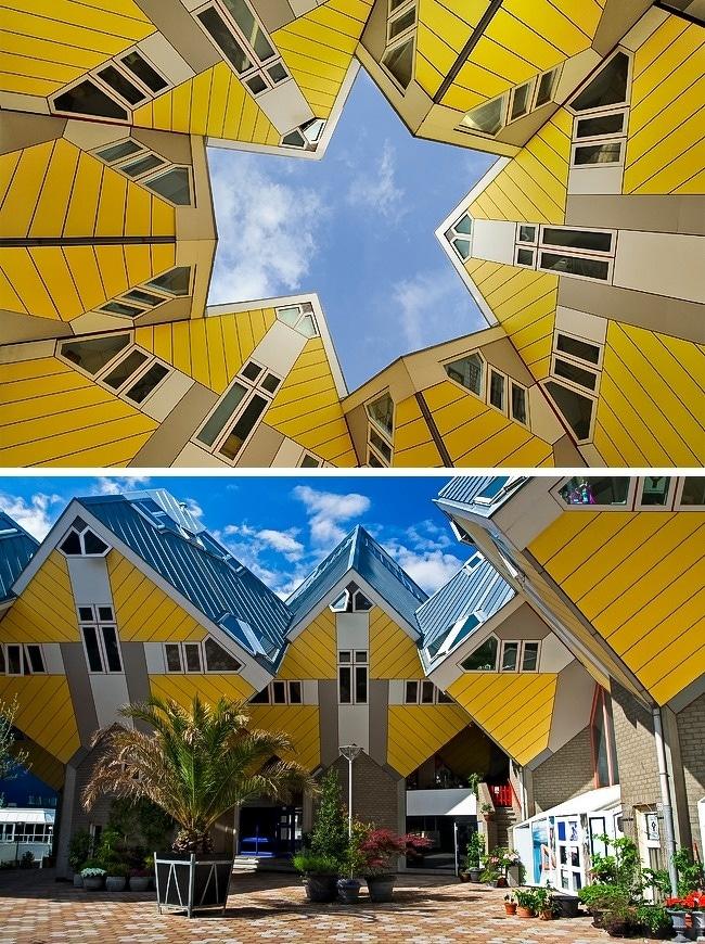maisons-cubiques-Rotterdam-Pays-Bas