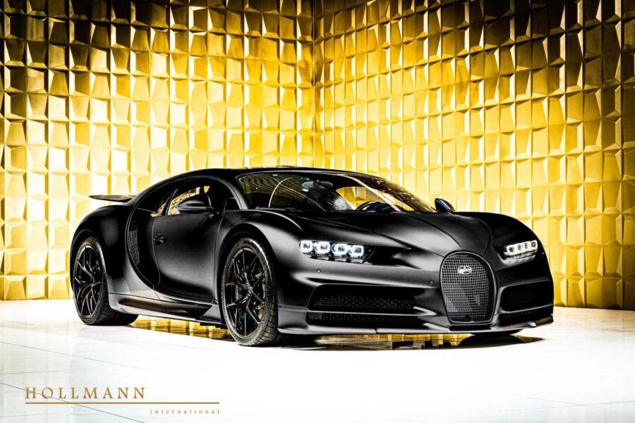 voiture-de-sport-Hyper-car-Bugatti-Chiron-Sport-Noire