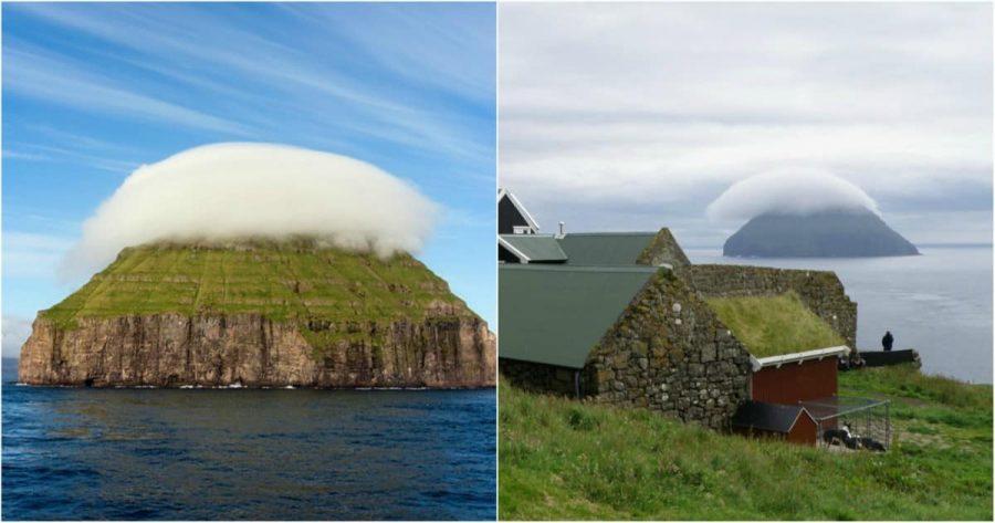 Litla-Dimun-La-Petite-île-avec-son-propre-nuage